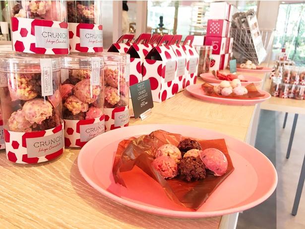 チョコレート菓子も多数販売!作っているところも見られる