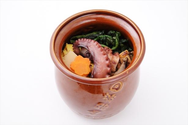 見た目もユニークな蛸壺弁当は味も一級品