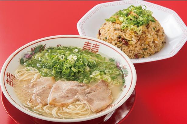 長浜ラーメン しんちゃん / ラーメン&ニンニク焼飯の鉄板コンビ