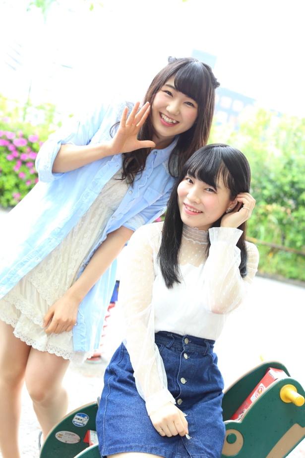 【写真を見る】板橋美羽、新宿靖菜(写真左より)
