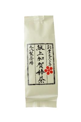 1983年に昭和天皇に献上するために完成させたという「献上加賀棒茶」。最高級の素材を求めて鹿児島から一番摘みの上質な茎を取り寄せたもの