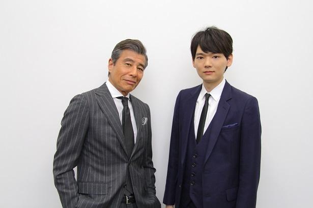 「連続ドラマW 6 0 誤判対策室」で共演している(写真左から)舘ひろし、古川雄輝にインタビュー