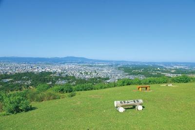 【写真を見る】ゲートから歩き進めて標高270mの場所にある若草山の一重目/若草山