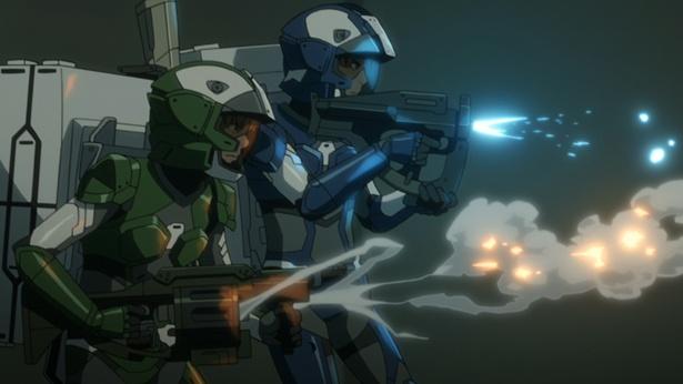 銃を乱射して敵と戦っているダイバーたちの「A.I.C.O.」の画像