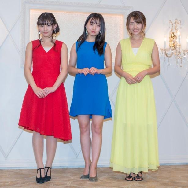 Blu-ray発売記念イベントに出席した浅川梨奈、渡邉幸愛、志村理佳