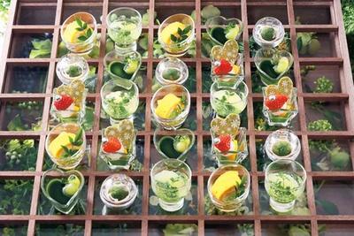 グラスデザートもキュート/京都センチュリーホテル オールデイダイニング ラジョウ