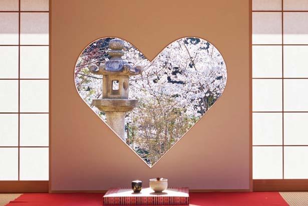ハート形の窓が話題の正寿院/正寿院