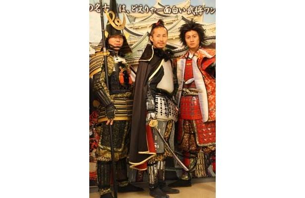 オープニングイベントでの「名古屋おもてなし武将隊」