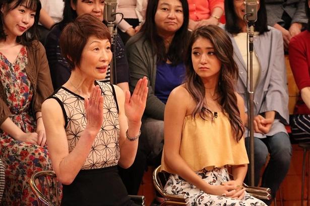 スタジオゲストの浜内千波、池田美優 (写真左から)