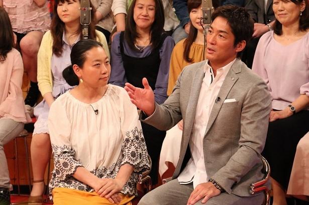 スタジオゲストのいとうあさこ、長嶋一茂(写真左から)
