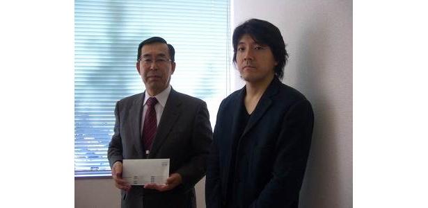 神奈川県共同募金会の大谷義輝事務局長にYW編集長の山本がお渡ししてきました!