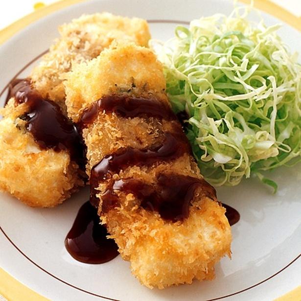 青じそで食べやすさアップの「豆腐カツ」