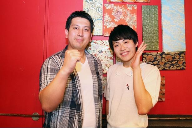 5月16日(水)放送の「冗談騎士」に出演するレインボー・実方孝生(左)と池田直人(右)