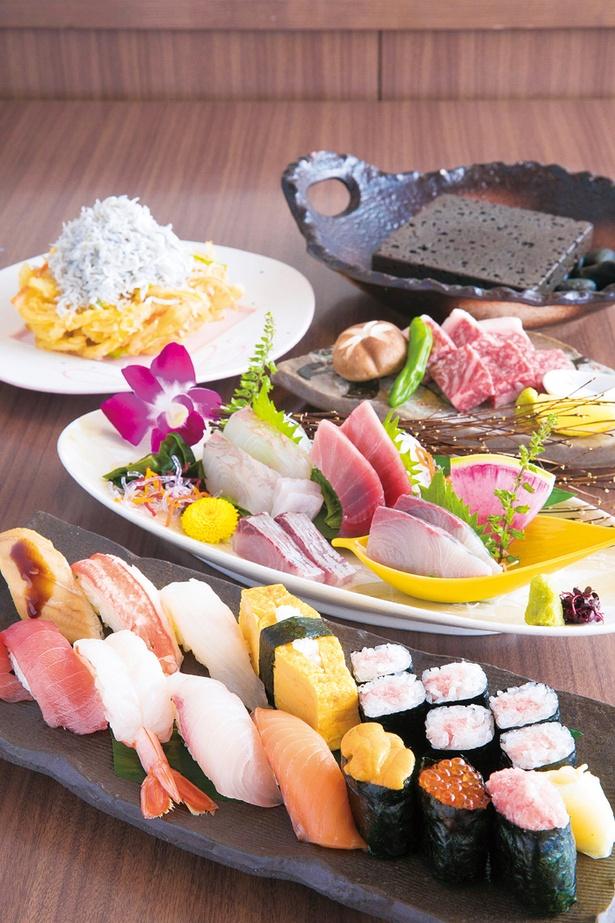 「海風季コレットマーレ店」の海風季一番寿司盛り