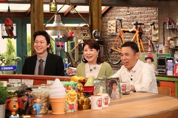 5月12日(土)にカンテレで放送される「おかべろ」のゲストに、森昌子(中央)が出演