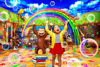 子供とジョージの記念写真が楽しめる(画像提供:ユニバーサル・スタジオ・ジャパン)