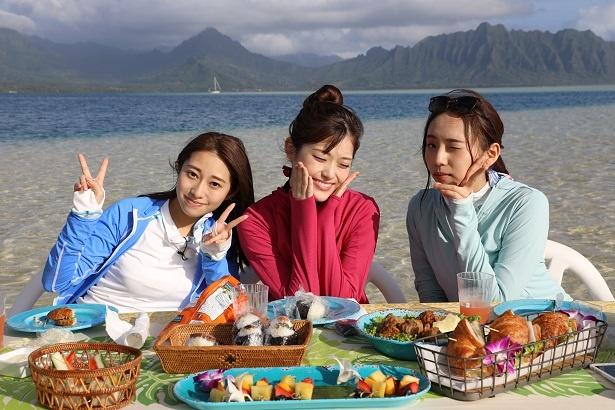 干潮時に海の真ん中に現れる「幻の島」で朝食を満喫♪
