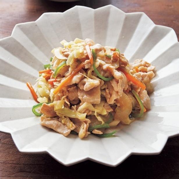 「豚肉と彩り野菜の炒め物」