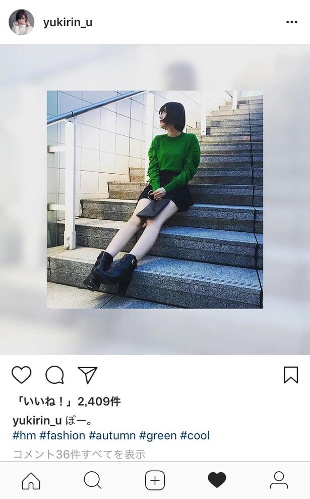 """【写真を見る】身長170cm!!スタイル抜群の美女""""ゆきりぬ""""、ミニスカで美脚披露!"""