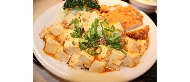 ピリリと辛く、食欲を刺激する麻婆豆腐がウマイ!
