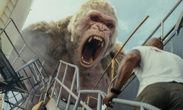 巨大化した動物たちが大暴れする『ランペイジ 巨獣大乱闘』
