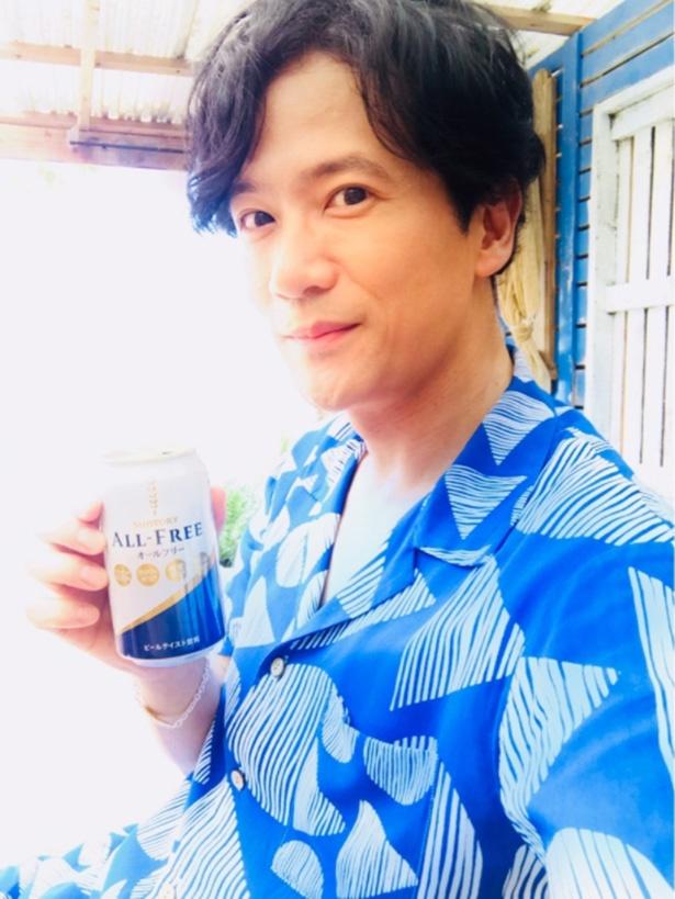 ブログでCM舞台裏を紹介した稲垣吾郎
