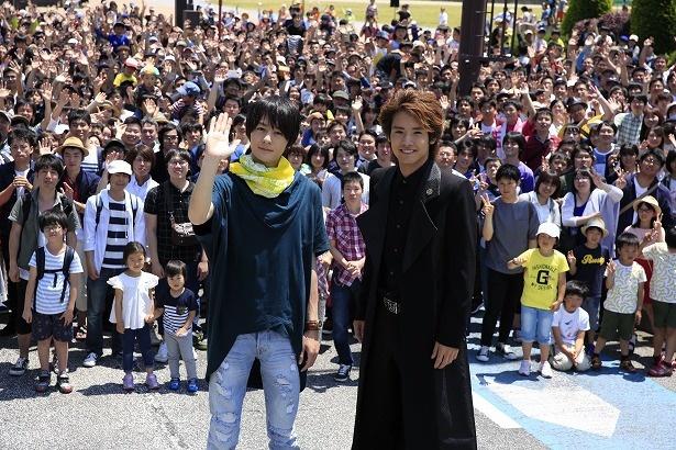 犬飼貴丈と赤楚衛二が福岡・北九州でエキストラ3000人とロケを実施