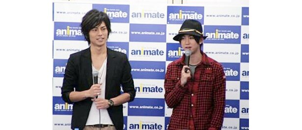 映画「書の道」DVD発売記念イベントに出席した牧田哲也、柳下大(写真左から)