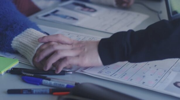 手と手が触れ合い…キュン?