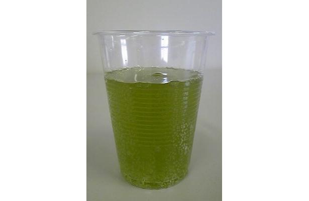 茶処・静岡を思わせる渋みと深みのある緑色はインパクト大!