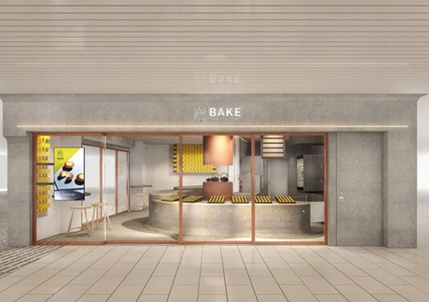 店内でチーズタルトを焼き上げる工房一体型/BAKE CHEESE TART コトチカ京都店