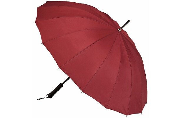 【写真】こちらが無地の状態の傘。開くと約1mの大きめサイズ
