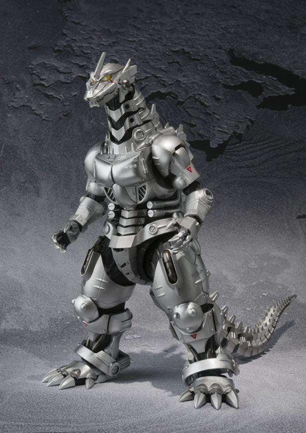 ゴジラの骨格をベースにした生体ロボット・3式機龍のフィギュア、S.H.MonsterArts MFS-3 3式機龍 品川最終決戦Ver.