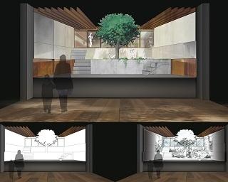 「未来のミライ展」には庭が再現(イメージ画像)