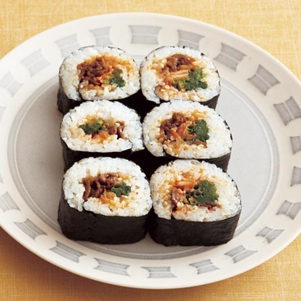 牛しぐれ煮が味の決め手!「韓国風のり巻き」