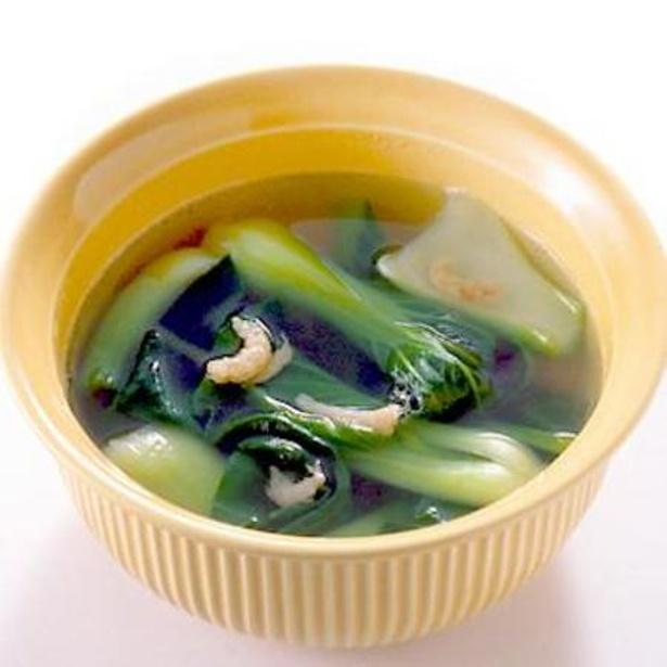 【関連レシピ】チンゲンサイと干しえびのスープ