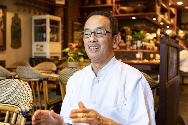 【写真を見る】20代からバリ観光の虜になり、バリ島に移住経験をもつオーナーの柴田 力さんは、1962年生まれ、東京都目黒区出身