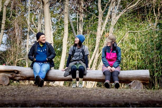 <可也山>要所要所に休憩所があるのも、初心者に適しているポイント