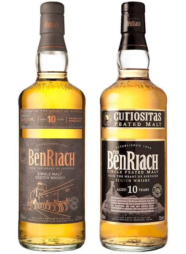 ベンリアック10年(左)とベンリアック キュオリアシタス10年(右)