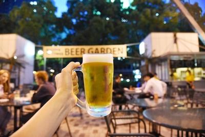 暑い名古屋の夜に冷えたビールを飲むのは至福の時間