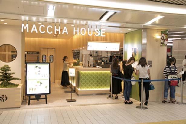 セルフ形式なので注文してから店内へ/MACCHA HOUSE 抹茶館 なんばウォーク