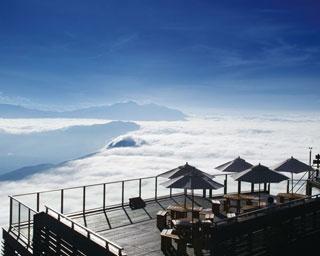 見渡す限りに雲海が広がる「SORA terrace」