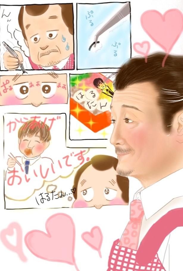 「吉田鋼太郎賞」を贈られたポン太さんの作品