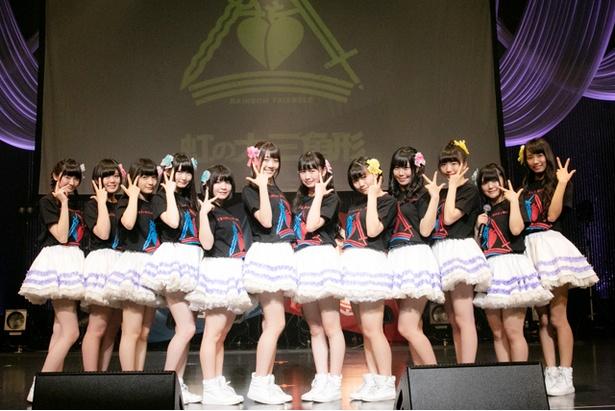 虹のコンキスタドールが5月18日、ワンマンライブ「虹の大三角形 in 東京~The Story of Rainbow」を前に5大発表を行った