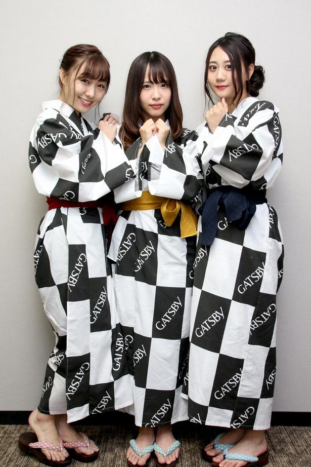 5月20日「ガチ勢の日」記念日制定イベントに登場したSKE48の須田亜香里、松村香織、古畑奈和(写真左から)。今回は古畑のインタビューを紹介