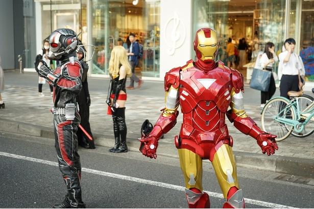 「アイアンマン」や「アントマン」などマーベルヒーローズも登場