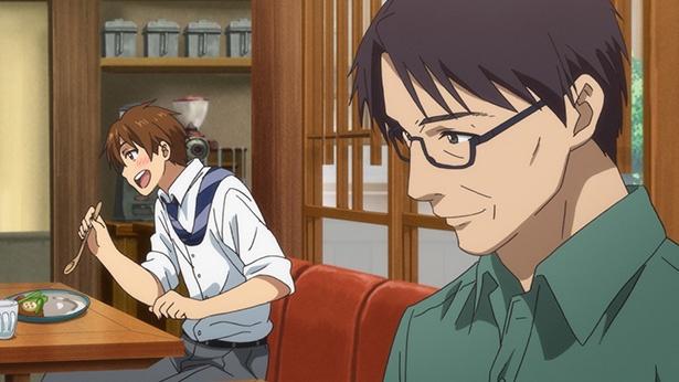 「鹿楓堂よついろ日和」第7話の先行カットが到着。引っ越してしまう親友のための抹茶アイス