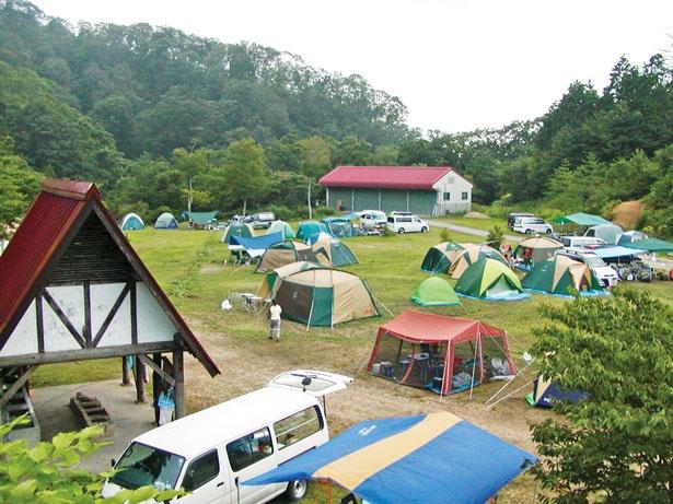 十分な広さがあるオートキャンプ場/森林公園スイス村
