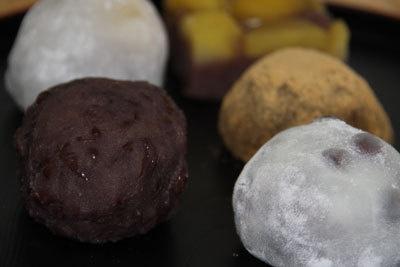 素材の甘みを広がる!各種の和菓子