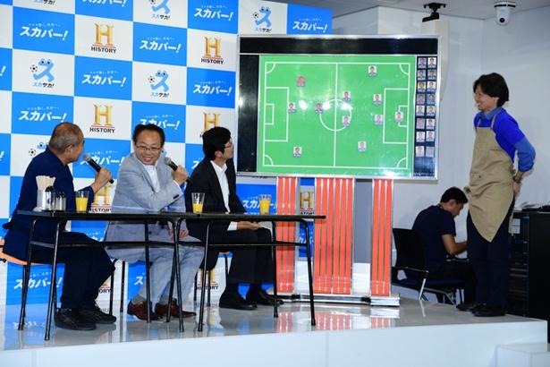 【写真を見る】W杯の注目選手について語る岡田武史